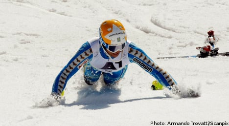 Sweden's Myhrer claims slalom World Cup title