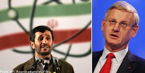 Bildt wary of 'blow up' in Iranian nuke talks