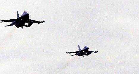 Norway jets break sound barrier, brandy bottle