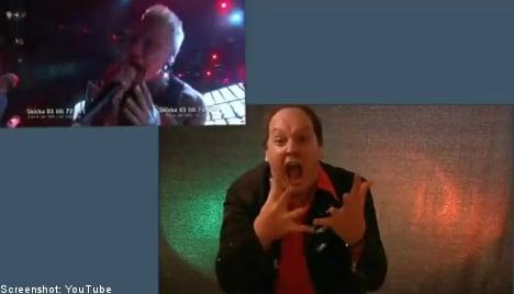 Swedish heavy metal tune gets stunning sign language makeover