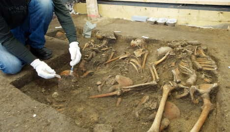 Mass grave from Thirty Years' War opened