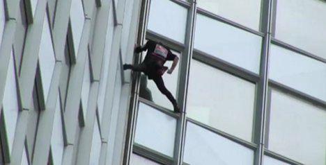 'Spiderman' climbs France's tallest building
