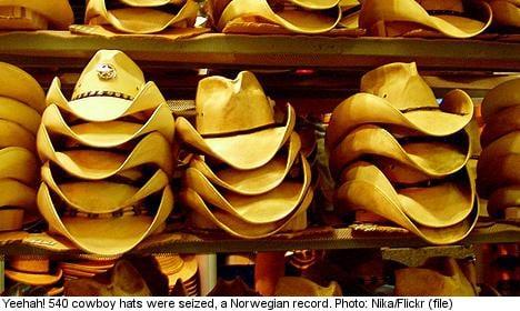 Cowboy hat smuggler jailed at Norway border