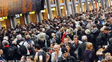 Stockholmers stranded after more train problems