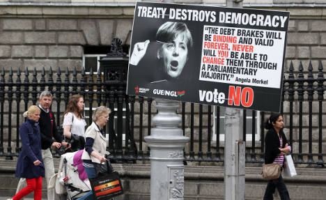 Irish 'mad at Merkel' as they vote on Fiscal Pact