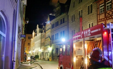 Coburg medieval town centre hit by fire
