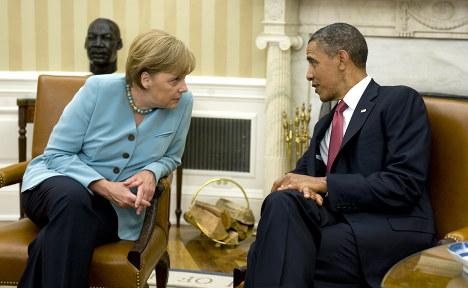 Merkel talks Syria, euro crisis with Obama