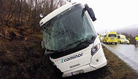 Two dead in Norwegian bus crash