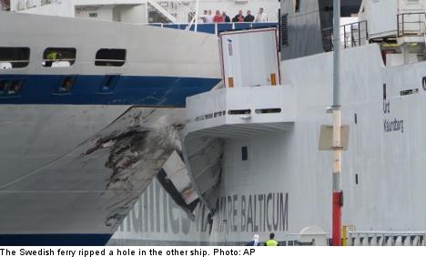 Swedish passenger ferry rams ship in German port