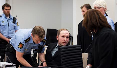 Victim's brother hurls shoe at Breivik