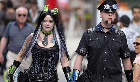 Goths gather in the sun at Leipzig festival
