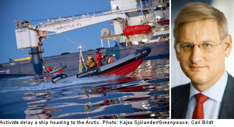 Arctic oil drill ban would be 'irresponsible': Bildt