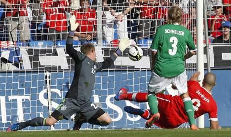 Weakened Germany loses to Switzerland 5-3