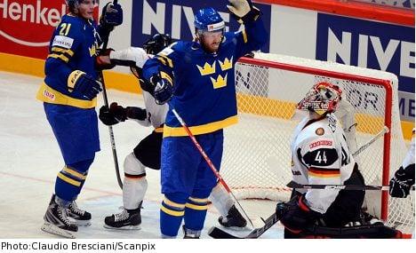Sweden beat Germany in fourth world hockey win