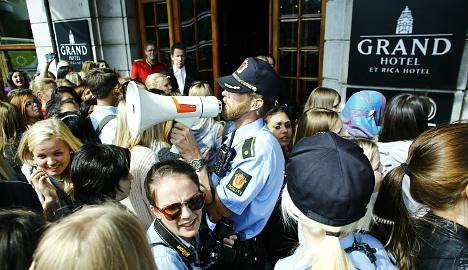 Bieber fever grips Oslo