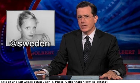 Sweden 'amused' by new Twitter plea from Colbert