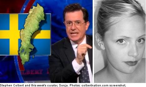 'Be patient' says Sweden to Colbert's Twitter plea