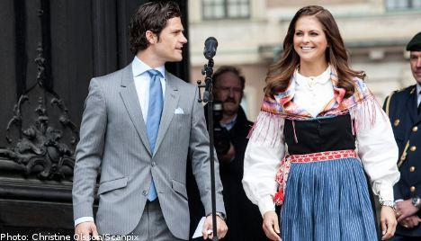 Sunshine greets Sweden's National Day