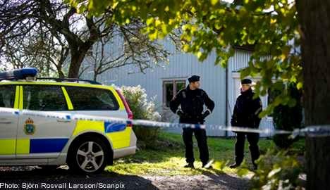 Murder suspects 'show no emotion' at farm visit