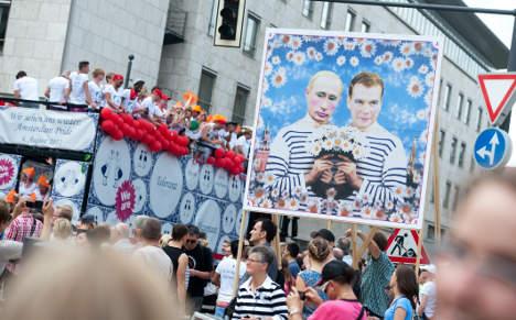 Gay pride parade targets Russian repression