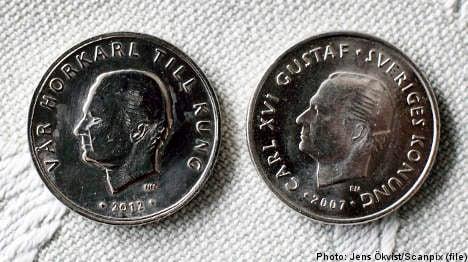 Fake krona coin mocks 'whorer' Swedish king