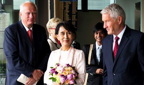 Suu Kyi arrives in Norway for Nobel speech