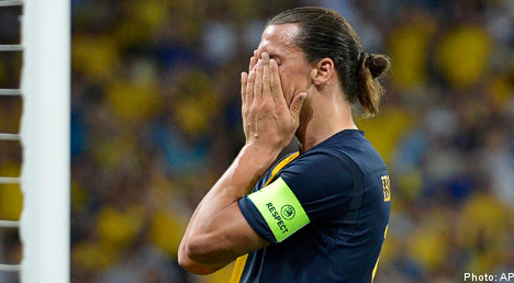 Zlatan vents anger during Euro 2012 defeat
