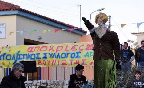 Greeks rail against 'crude' German editorial