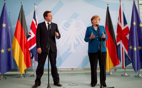 Merkel and Cameron – fiscal pact not enough