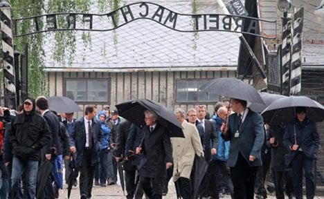 Football delegation visits Auschwitz