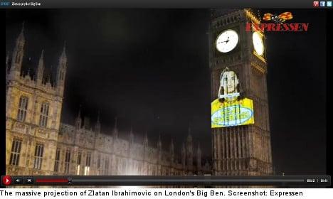Zlatan takes over Big Ben in pre-game tabloid war