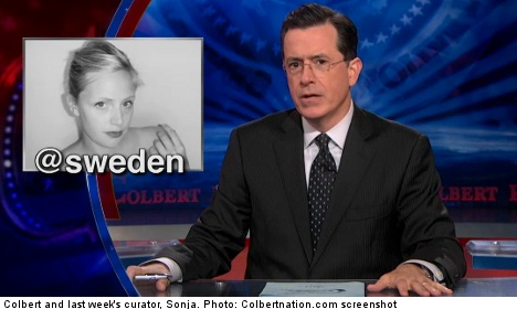 Sweden to reveal Colbert Twitter news 'next week'