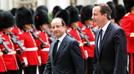 Hollande visits London Olympic Park