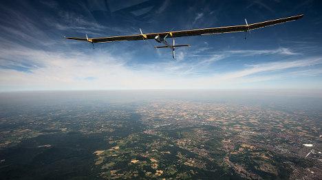 Solar plane on final leg of intercontinental flight