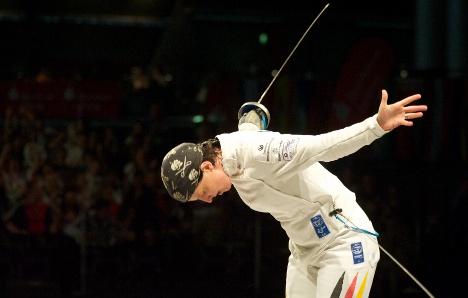 German fencer skewers Olympic boards