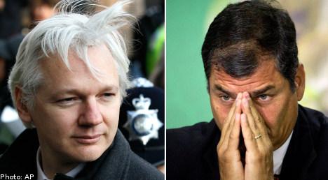 Ecuador moots Assange interview in London