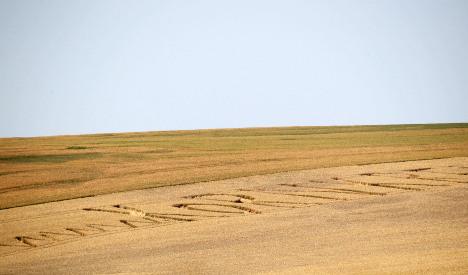 Crop circle feud leaves farmer fuming