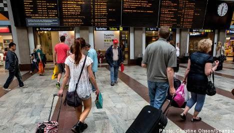 Stockholm commuters suffer train disruption