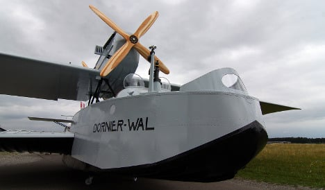 Replica of Amundsen's seaplane goes on show
