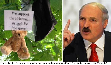 Teddy-drop team invites Lukashenko to Sweden