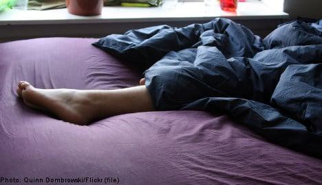 Naked man breaks into flat, takes nap