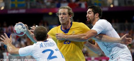 Sweden claims handball silver medal