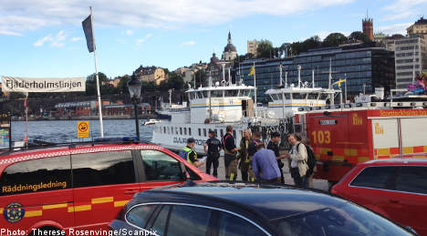 Three hurt as Stockholm ferry rams quay