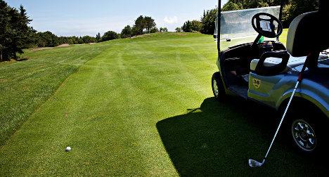 Swede charged after drunken golf cart drive