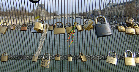 Paris finally falls for 'love locks'