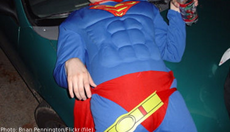 Swedes lock up drunk Norwegian 'superhero'