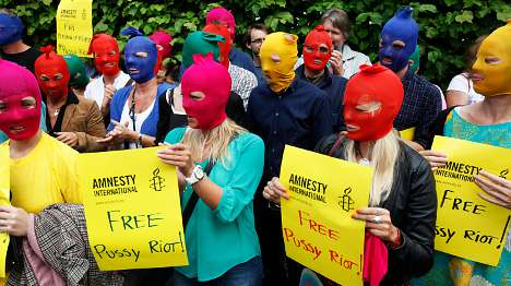 Amnesty stages Oslo Pussy Riot protest