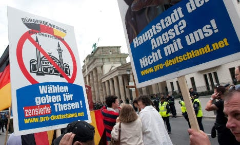 Anti-Islam group targets mosques and leftists