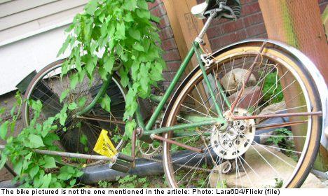 Swedish thief returns bike in fit of remorse
