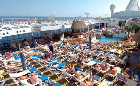 Beach towel wardens police cruise ships